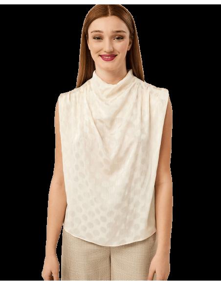 FOREL μπλούζα με ντραπέ λαιμό 072.80.01.085