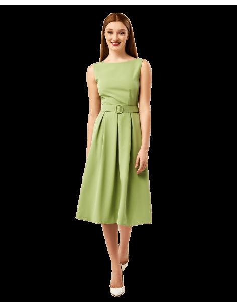 FOREL Φόρεμα αμάνικο κρεπ με πιέτες 072.50.01.034