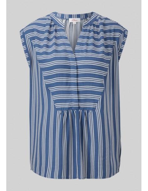 S.OLIVER Loose short sleeve blouse 2100030-57Α2