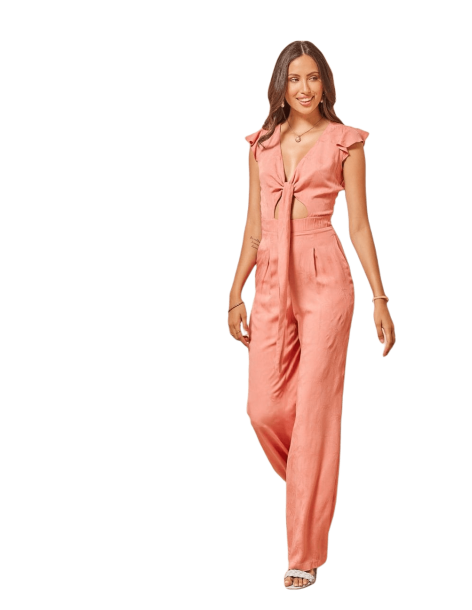ENZZO Ολόσωμη φόρμα με δέσιμο 211347