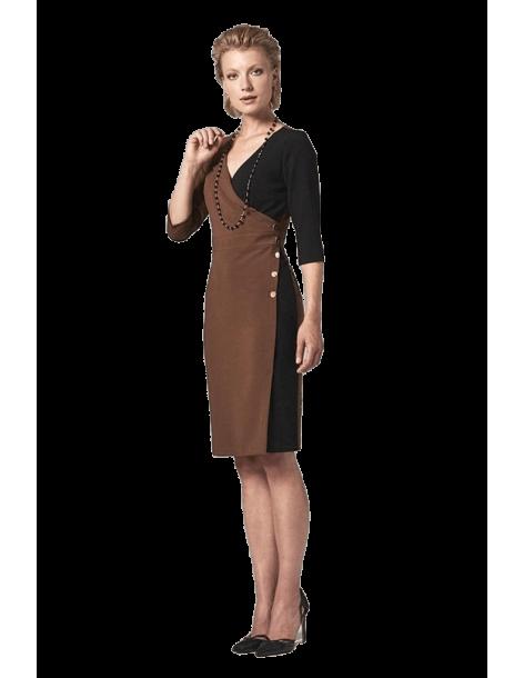 Φόρεμα κρουαζέ FOREL 575015