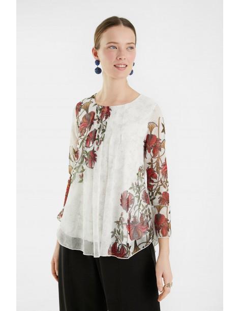 DESIGUAL floral μπλούζα 21SWTKDD-1000