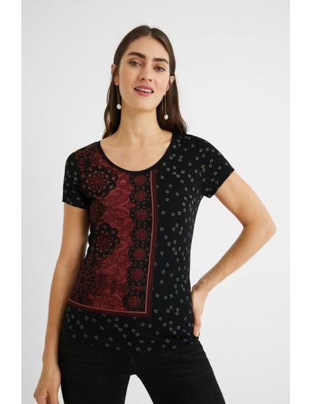 DESIGUAL t-shirt mandala 21SWTK65-2000